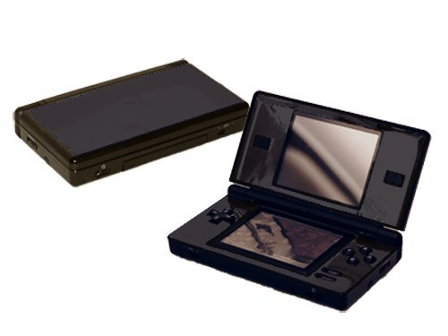 Nintendo Ds Faceplates - Nintendo DS Lite Skin (DSL) - NEW - BLACK CHROME MIRROR system skins faceplate decal mod