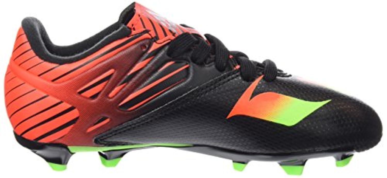 adidas Messi 15.3 FG/AG, Boys' Football Boots, Multicolor (Core Black/Solar Green/Solar Red), 3 UK (35.5 EU)