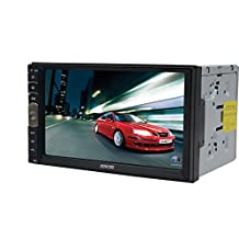 EinCar 2 Din 7 Inch Capacitive Touch Screen Car Stereo MP5 Player In Dash Bluetooth FM Radio Multimedia Receiver Support USB SD RCA output AV Input Steering Wheel Control Mirror Link for Android phone