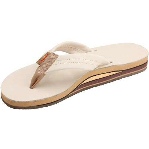 932a272f7d6 Womens Rainbow Sandals Premier Leather Double Stack Wide Strap Sand Medium  (6.5-7.5) - Buy Online in Oman.