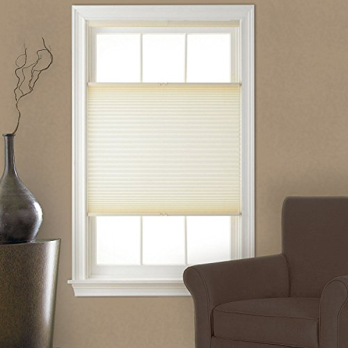 Top Down Bottom Up Cordless Pleated Shade Cream 23x64