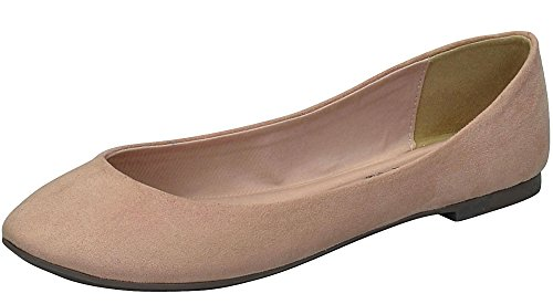 Toe Breckelles Slip Pointed On Flats Natural Women's Ballet 4rrqwEp