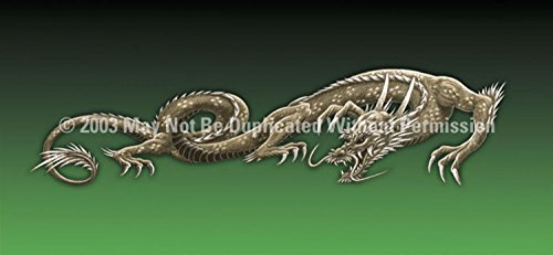 Clearvue Graphics Window Graphic - 30x65 Dragon Tattoo Green - 30 X 65 Dragon