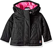 Carhartt Baby Girls Amoret Quilted Jacket, Black,