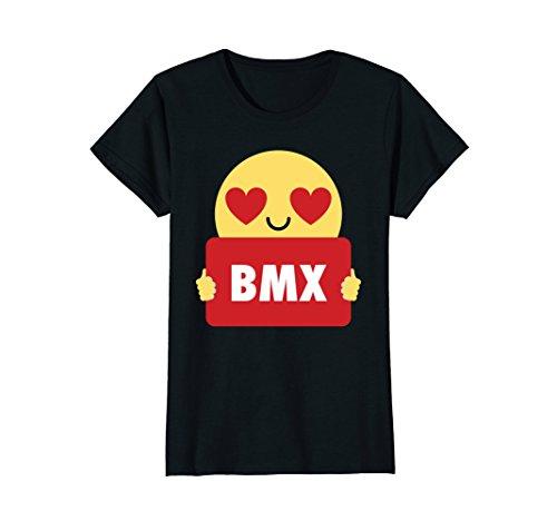Black Eye Bmx - Womens BMX Shirt Heart Eye T-Shirt Tee XL Black