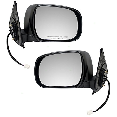 Driver and Passenger Power Side View Mirrors Textured Replacement for Toyota Pickup Truck 87940-04180 87910-04170
