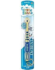 Dr.BEST Eerste tandenborstel voor baby's van 0-2 jaar, bereikt elke tandje rond, zacht, 1 stuk