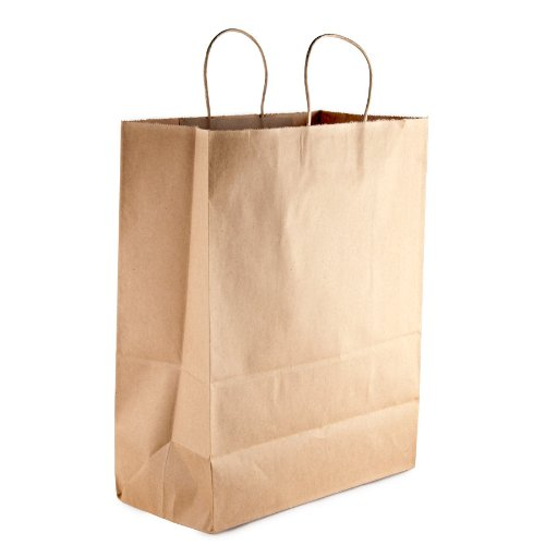 Mart Brown Shopping Bag with Handles 13
