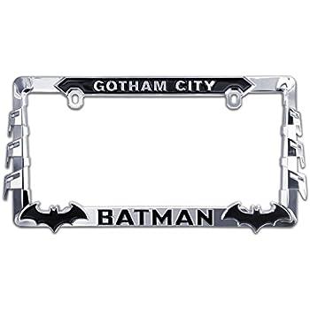 no en relieve, ATD Novedad matrícula logotipo impreso de Batman Batimóvil No 3d