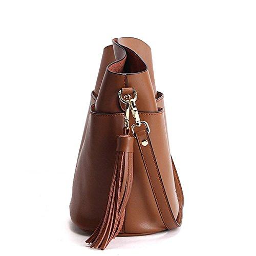 femme bandoulière à en épaule main Sac fashion E LF portés Sac Girl M169 cuir Sac Marron Wnq6n1az