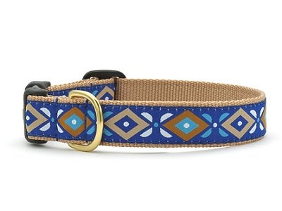 Up Country Aztec Blue Collar - Size Large - FREE SHIPPING!!!