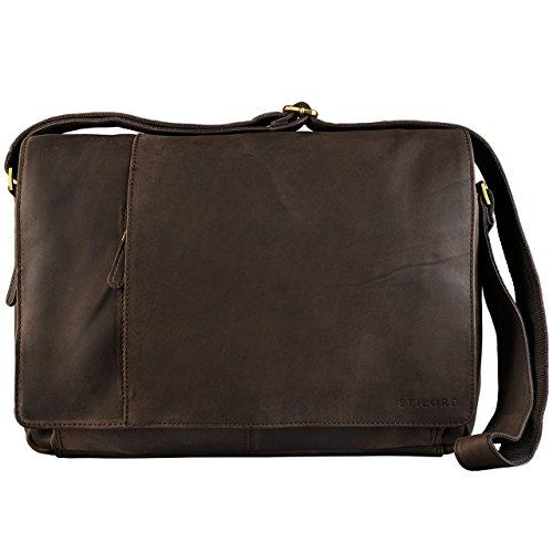 STILORD 'Elias' Vintage Messenger Bag Leather Shoulder Cross-Body Laptop...