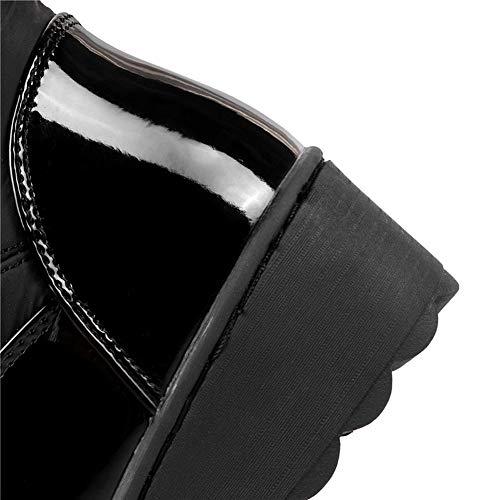 Garder Au Slip De on Haute Les Noir Sur Métal Hiver Russie Genou Femmes Décoration Fourrure Neige Chaud Bottes Cuisse Plateforme jUqMVLzGSp