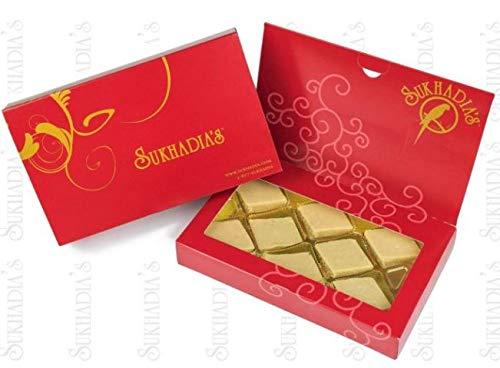 Vegan Indian Sweets, Kaju Katli in Elegant Red Box, 12oz (Best Indian Sweets In Usa)