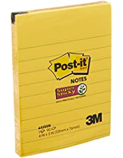 Post-It 643-SS Super Sticky Lined Notes, 90 Sheets, Ultra Yellow