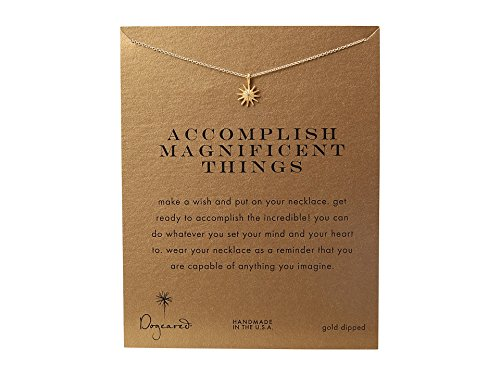 A Make Dogeared Necklace Wish (Dogeared Women's Accomplish Magnificent Things Necklace 16