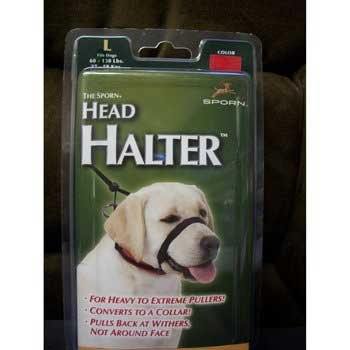 Sporn Pet Head Halter, Large, Black, My Pet Supplies