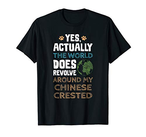 Funny Chinese Crested Dog TShirt Gifts Men Women