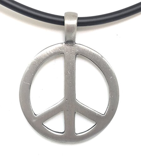 Peace Sign Love Necklace (M - Pewter For (Tie Dye Pinata)