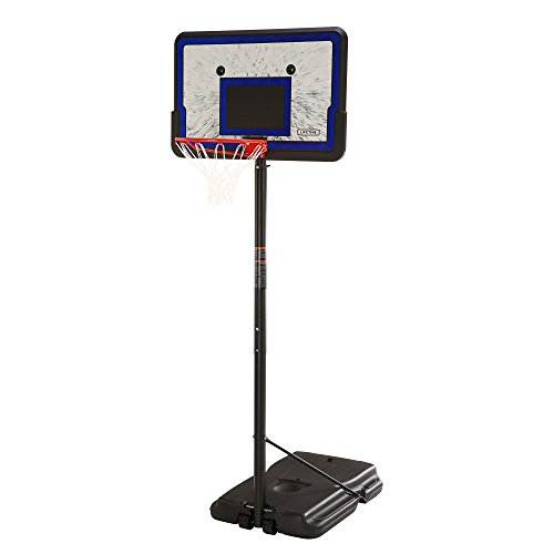 Lifetime 1221 Pro Court Height Adjustable Portable Basketball System, 44 Inch Backboard -