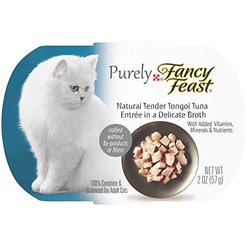 Purina Fancy Feast Natural Wet Cat Food, Purely Natural Tender Tongol Tuna Entree – (10) 2 oz. Trays