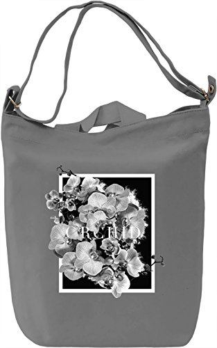 Orchid Borsa Giornaliera Canvas Canvas Day Bag| 100% Premium Cotton Canvas| DTG Printing|