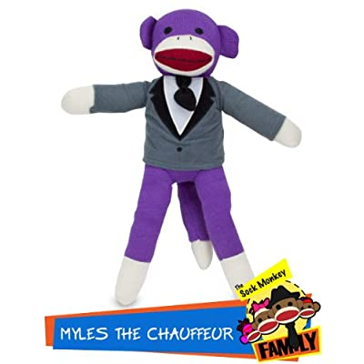 Myles The Chauffeur Sock Monkey - Purple Stuffed Animal in Tuxedo - Polyester Fiber Plush Dolls - Childrens Play Toys: Toys & Games [5Bkhe0700086]
