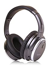 233621 H501 Active Noise Cancelling Over-ear Headphones with Inline Microphone and Carrying Case, 50 hour Battery Time (Wired / Space Grey)