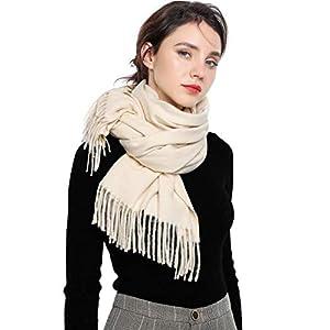 EASE LEAP Sciarpa Morbida da Donna Elegante Pashmina Calda Grande Stole Foulard Invernale da Tinta Unita 200 * 70cm