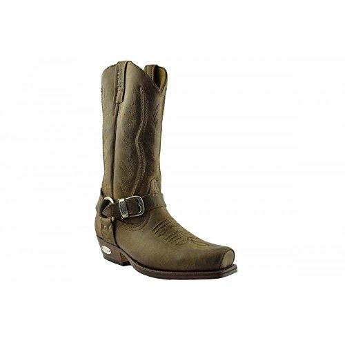 cf27c5dcd6a Loblan 2618 Brown Waxy Leather Mens Cowboy Boots Classic Biker Hand Western  41