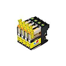 TS 4 Yellow LC203 Compatible Ink Cartridges for Brother LC203 LC-203 (4 YELLOW) for Multifunction Printers MFC-J4320DW, MFC-J4420DW, MFC-J4620DW, MFC-J5620DW, MFC-J5720DW