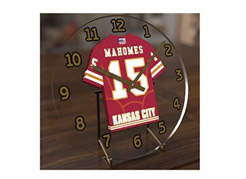 FanPlastic Patrick MAHOMES 15 Kansas City Chiefs Desktop Clock - National Football League Legends Edition !!