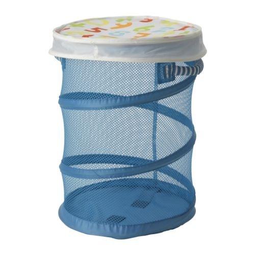 IKEA Kid Laundry Mesh Basket with Lid, Blue, Kusiner (Ikea Kusiner Mesh Basket compare prices)