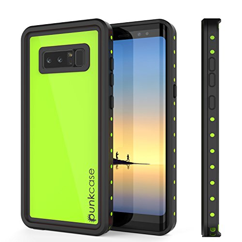 - Galaxy Note 8 Waterproof Case, Punkcase [StudStar Series] [Slim Fit] [IP68 Certified] [Shockproof] [Dirtproof] [Snowproof] Armor Cover for Samsung Galaxy Note 8 [Light Green]