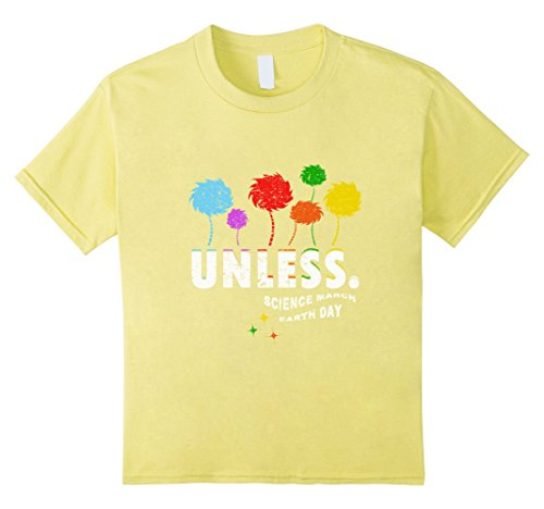 Kids Unless Science March Earth Day 2017 T-Shirt 4 Lemon