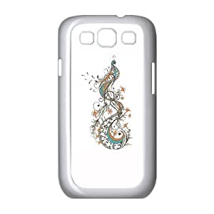 Samsung Galaxy S3 9300 Cell Phone Case White Peacock DRB Metal Cell Phone Cases