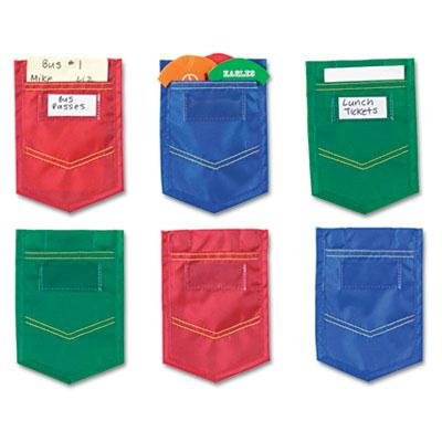 Learning Resources - 2 Pack - Mini Pockets Blue Red Green 4 X 6 6/Pack ''Product Category: Desk Accessories & Workspace Organizers/Wall & Panel Organizers'' by Original Equipment Manufacture