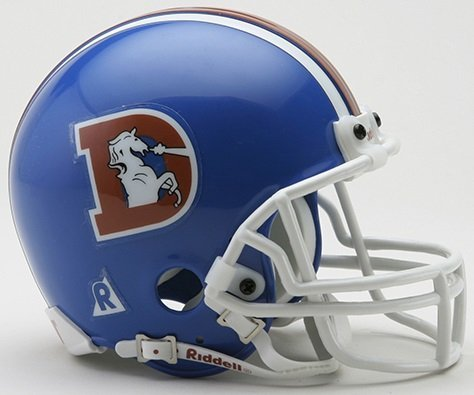 Riddell Mini Replica Throwback Helmet - Riddell Denver Broncos Mini Throwback Helmet