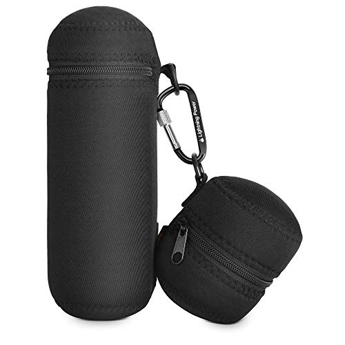 TXEsign Beats Pill+ Plus Portable Wireless Bluetooth Speaker Water-Resistant Lycra Zipper Carrying Case Bag with Charging Adapter Pouch