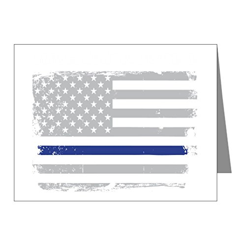 CafePress - Serve Honor Protect Thin Blue Line - Blank Note Cards (Pack of 20) Matte