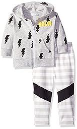 Rosie Pope Little Boys Hero Themed Zipped Jacket Set, Heather Gray, 12 Months