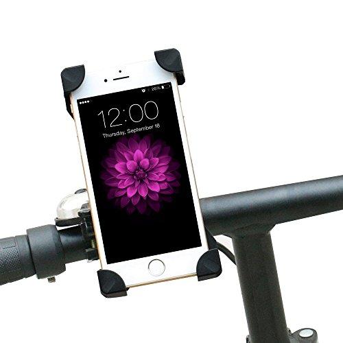 GIMARS Universal Fahrrad Handyhalterung Handy Halter Smartphone Halterung Verstellbar für iPhone 6s Plus / 6 / 5s / 5 / 4 & Samsung Galaxy S7 Edge / S6 / S5 / S4 / Note 3 / Note 4 usw.