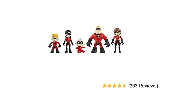 Amazon Com The Incredibles 2 Family 5 Pack Junior Supers Action