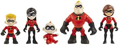 The Incredibles 2 Family 5-Pack Junior Supers Action Figures, Approximately 3