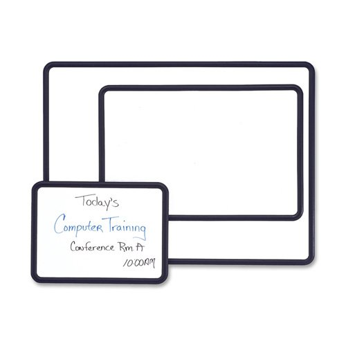 Contour Melamine Board, 3'x2', White Surface/Black Frame, Sold as 1 Each - Quartet Contour Melamine Board, 3'x2', White Surface/Black Frame