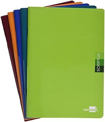 Liderpapel LB31 - Pack de 5 libretas, liso, 48 hojas, A4, 90 gr ...