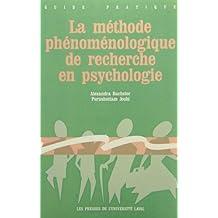 Méthode phénoménologique de recherche en psychologie