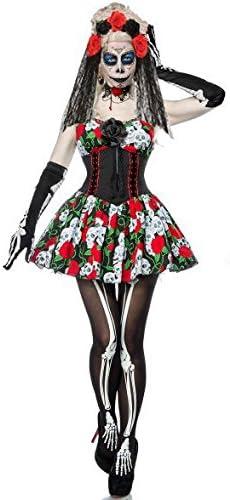 Disfraz de calavera de azúcar para mujer, disfraz de esqueleto ...