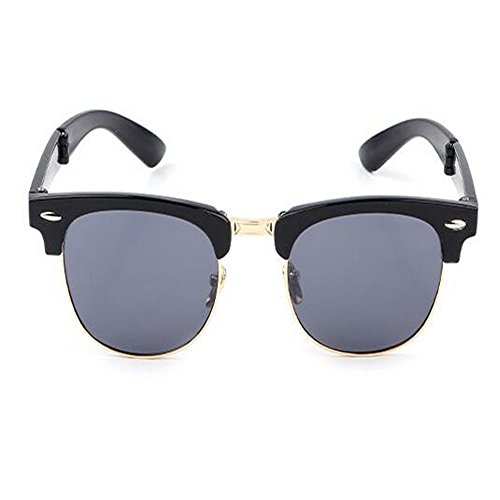 soleil de Portable de et Hzjundasi Lunettes Charnière Rtero C1 Classique fatigue Des Homme Femme Anti UV soleil Plier Mode Anti Cadre pour lunettes gSqaxTq