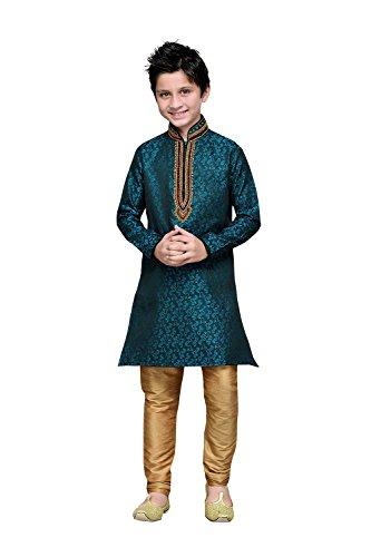 Indianfashion Store Indian Designer Partywear Ethnic Wedding Rama Green Wedding Readymade by Indianfashion Store